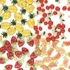 日本ホビーショー2018 パーツ ハンドメイド チャーム ポップ 果物 金属 かわいい エポパーツ エポ金具 販売 通販なら株式会社丸上