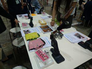日本ホビーショー 株式会社丸上のワークショップ ハンドメイド スタッズ ハンドプレス キャンディバッグ