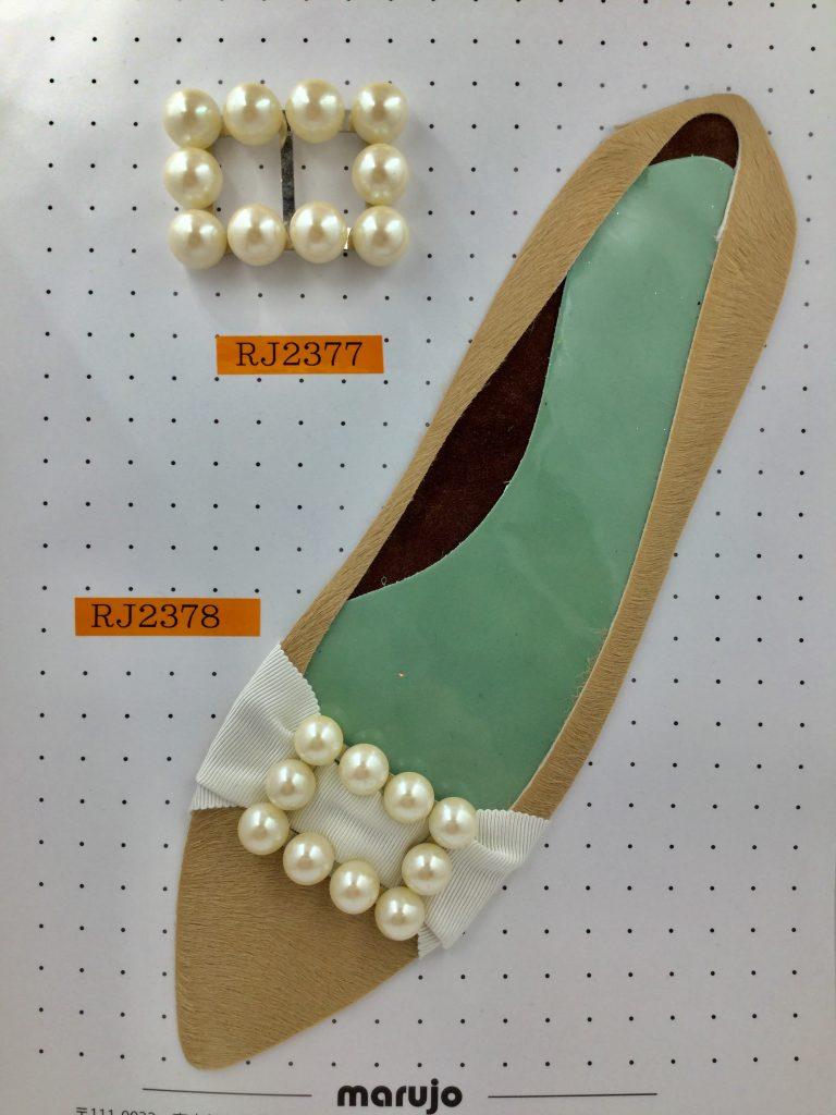 バックル パール パンプス 靴 前飾り アクセサリー パーツ 金属 製作なら株式会社丸上