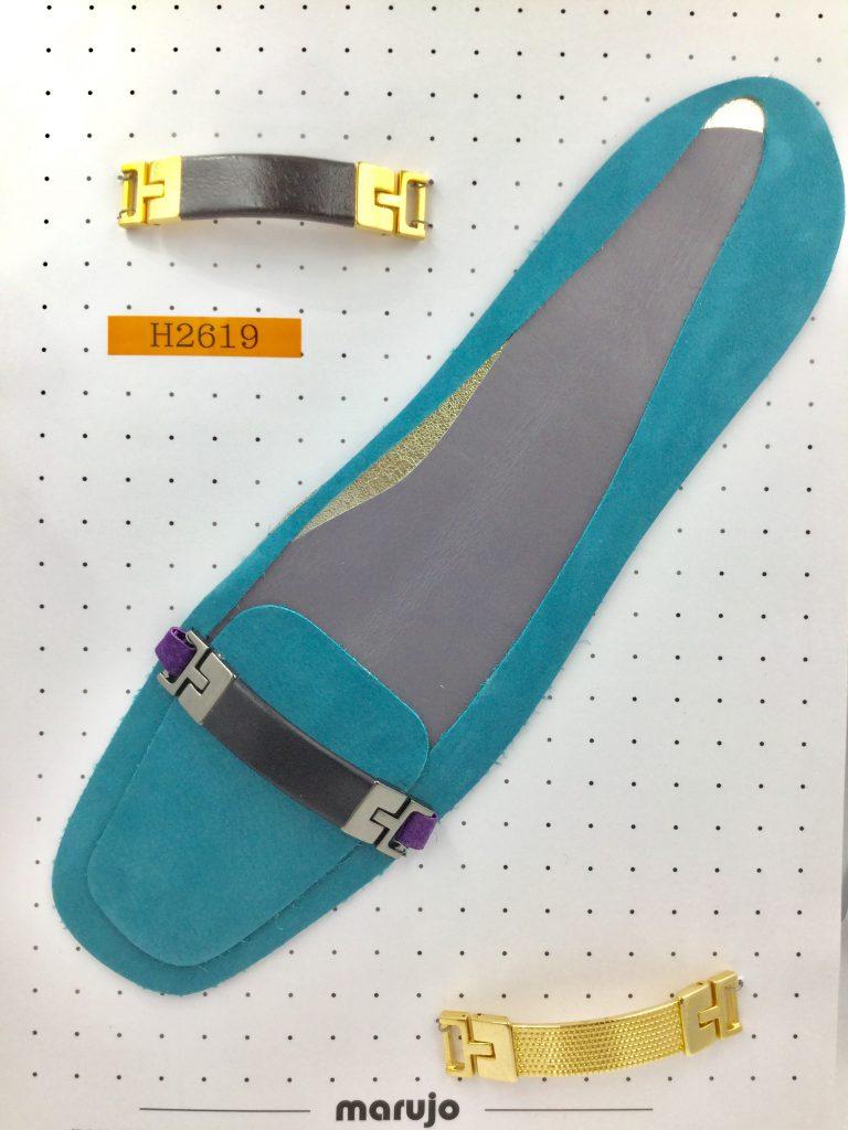 ビット金具 革つき パンプス 靴 ローファー 前飾り アクセサリー 金属 カスタマイズ 製作なら株式会社丸上