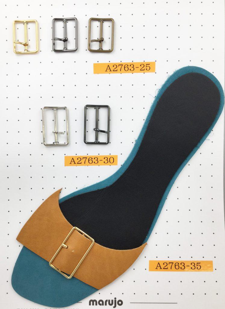 細身バックル 金属 メッキ パーツ パンプス 靴 前飾り ベルト アクセサリー 製作 なら株式会社丸上