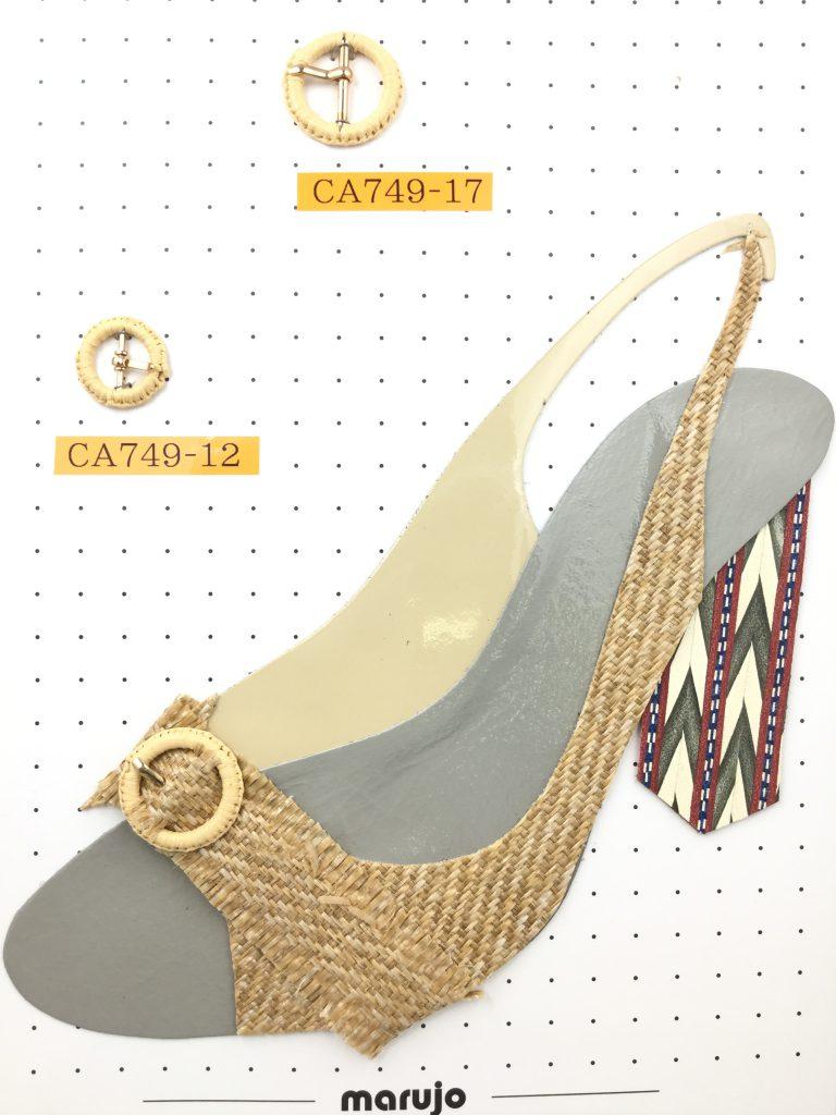 ラタン素材風バックル 靴 パンプス アクセサリー パーツ 通販 販売は株式会社丸上