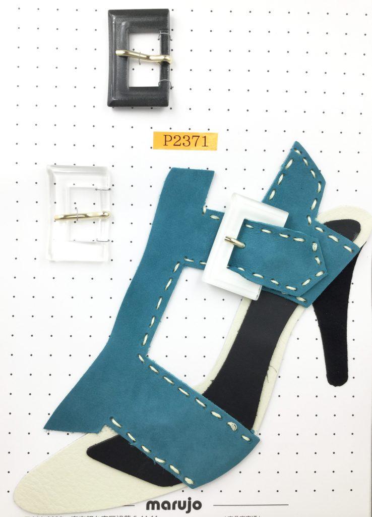 プラスチックバックル 柄 プリント 白 花柄 チェック パンプス 靴 パーツ バックル 通販 販売は株式会社丸上