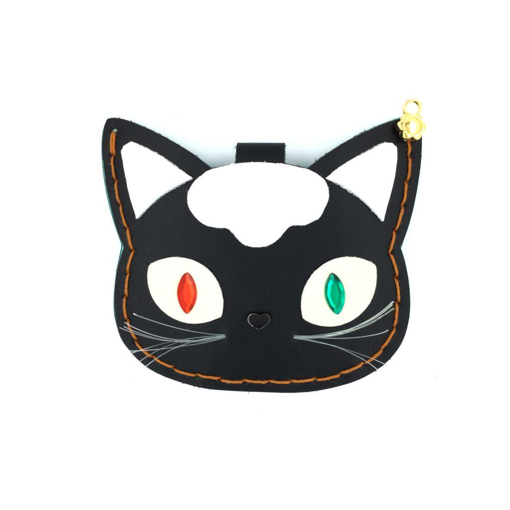猫 CAT パスケース 革 レザー ビニール ネームタグ ワークショップ ハンドメイド 浅草エーラウンド