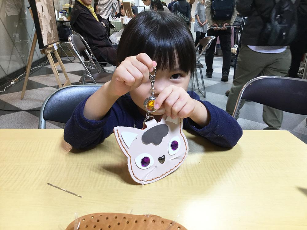 猫 革 パスケース レザー 革小物 ワークショップ ハンドメイド 浅草エーラウンド