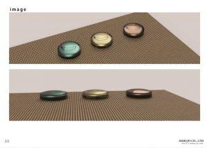 オリジナルボタン オリジナルパーツ 製作 樹脂ボタン ホックボタン 株式会社丸上 BLUEBANANAapartment 3Dモデル