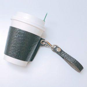 ワークショップ コーヒーカップスリーブ 本革 株式会社丸上 marujo